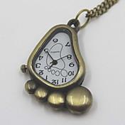 かわいいソール形状の懐中時計セーターのネックレス