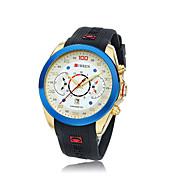 CURREN Hombre Reloj de Pulsera Silicona Banda Negro Marrón Oro/Negro Negro/Gris Blanco / azul