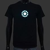 batería recargable incluida iluminan llevó el camiseta de Iron Man 1 sonido ajustable activado y múltiples modos de flash