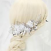 成人用 フラワーガール ラインストーン 合金 人造真珠 かぶと-結婚式 パーティー コーム 1個