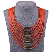 Mujer Collares Declaración Collares Babero Joyas Legierung Moda Joyería Destacada Cosecha Naranja Beige Rojo Azul Sandía Joyas ParaFiesta