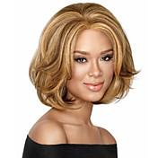 Mujer Pelucas sintéticas Sin Tapa Rizado Marrón Las pelucas del traje