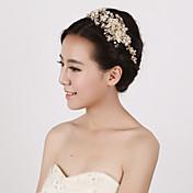 成人用 フラワーガール 真珠 クリスタル 人造真珠 かぶと-結婚式 パーティー ヘッドバンド 1個