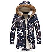 MEN コート&ジャケット ( コットン ) ビンテージ / ビーチ / カジュアル / パーティー / 仕事 スタンド - 長袖