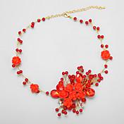 imitación de la perla / de la aleación / collar de diamantes de imitación de la boda / compromiso / cumpleaños / fiesta de cristal / perla