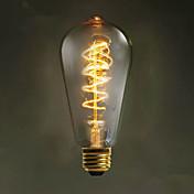 エジソンレトロな装飾電球を巻線E27 40ワットST64