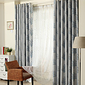 Dva panely Window Léčba Země Moderní Neoklasika Středomořský Ložnice Polyester Materiál Blackout Záclony závěsy Home dekorace For Okno