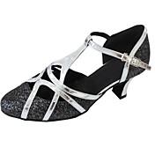 Na zakázku - Dámské - Taneční boty - Latina / Moderní / Salsa - Koženka / Třpitivé flitry - Podpatek na míru - Vícebarevný