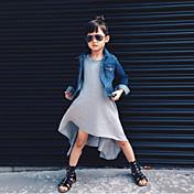 Vestido Chica deUn Color-Algodón / Poliéster-Invierno / Primavera / Otoño-Negro / Gris