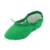 Non Přizpůsobitelné - Dámské / Dětské - Taneční boty - Břišní tanec / Balet / Taneční tenisky - Plátno - Bez podpatku - Zelená