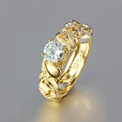Feminino Anéis Grossos bijuterias Chapeado Dourado 18K ouro Jóias Para Casamento Festa Diário Casual