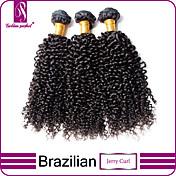 Tejidos Humanos Cabello Cabello Brasileño Rizado rizado 3 Piezas los tejidos de pelo
