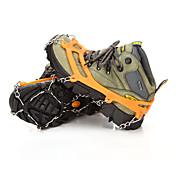 at8605 8 acero inoxidable zapatos de nieve invierno al aire libre crampones diente zapatos establecidos y crampones de escalada