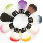 2pcs uñas pelo sintético superior cepillo del arte brillaron (color al azar)