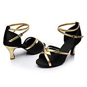 Zapatos de baile (Negro / Azul / Marrón / Rojo) - Latino / Salsa / Samba - Personalizables - Tacón Personalizado