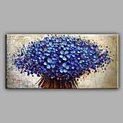 手描きの 花柄/植物の 横式,近代の 1枚 キャンバス ハング塗装油絵 For ホームデコレーション