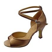 Zapatos de baile (Negro / Marrón / Plata / Oro / Otro) - Latino / Salsa / Samba / Zapatos de Swing - No Personalizables - Tacón Cuadrado