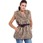 フェイクファーのパーティー/カジュアルベスト中のノースリーブ襟付き毛皮のベスト