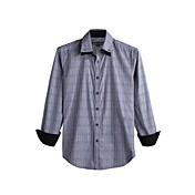 JamesEarl 男性 シャツカラー ロング シャツ&ブラウス 黒フェード - DA112046126