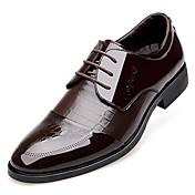 MasculinoConforto Sapatos formais-Salto Baixo-Preto Marrom-Couro Envernizado-Escritório & Trabalho Casual