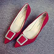 Mujer-Tacón Stiletto-PuntiagudosVestido-Semicuero-Negro / Rojo / Gris / Camello