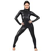 Zentai Dragt Ninja Spandex Heldragt Cosplay Kostumer Sort Ensfarvet Trikot/Heldragtskostumer Zentai Spandex Skinnende Metallisk Unisex