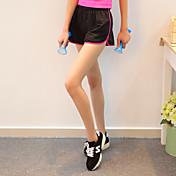 丰途 Mujer Shorts de running Secado rápido Transpirable Shorts/Malla corta Pantalones/Sobrepantalón Prendas de abajo para Yoga Ejercicio y