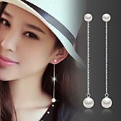 Dámské Visací náušnice Perla Měsíční kámen Módní Perly Stříbro Šperky Pro Svatební Párty Denní