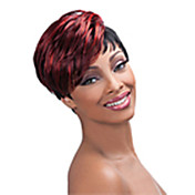 Mulher Perucas sintéticas Sem Touca Curto Liso Vermelho preto peruca Perucas para Fantasia