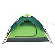 Makino 3 a 4 Personas Tienda Triple Carpa para camping Bien Ventilado Impermeable Resistente al Viento Resistente a la lluvia A prueba de
