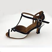 Zapatos de baile(Blanco) -Latino / Moderno / Samba-Personalizables-Tacón Stiletto