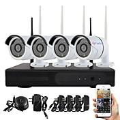 無線NVRキットP2Pの960pのHD屋内/屋外赤外線ナイトビジョンセキュリティIPカメラ無線LAN CCTVシステムをyanse®プラグアンドプレイ