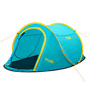 Makino 2 Personas Tienda Doble Carpa para camping Impermeable Resistente al Viento Resistente a la lluvia A prueba de polvo A prueba de