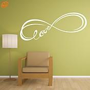 Slova a citáty / Romantika / Módní / Abstraktní / Fantazie Samolepky na zeď Samolepky na stěnu,PVC M:42*128cm/ L:55*167cm