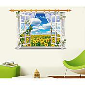 Botânico / Vida Imóvel / Paisagem Wall Stickers Autocolantes 3D para Parede,pvc 60*90CM