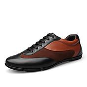 Hombre Zapatos Cuero Primavera Verano Otoño Invierno Confort Con Cordón Para Casual Negro Marrón