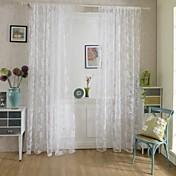 ワンパネル 田舎風 花/植物 画像参照 リビングルーム ポリエステル パネルカーテンドレープ