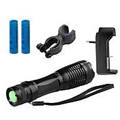 ZK10 LED懐中電灯 LED 4000 ルーメン 5 モード Cree XM-L T6 1 x 18650電池 焦点調整可 耐衝撃性 滑り止めグリップ 充電式 防水 ストライクベゼル ミリタリー 緊急 スマールサイズ スーパーライト ハイパワー ズーム可能 のために