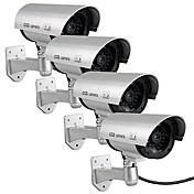 kingneo 4pcs falsa al aire libre / cámara simulada para la vigilancia de circuito cerrado de televisión de seguridad a prueba de agua