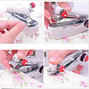 Home Mini manual de máquina de costura pequena máquina de costura de bolso portátil cor aleatória