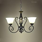Lámparas Colgantes ,  Cosecha Pintura Característica for LED MetalSala de estar Dormitorio Comedor Cocina Habitación de estudio/Oficina