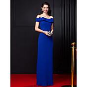 Funda / Columna Hasta el Suelo Raso Baile de Promoción Evento Formal Vestido con Lazo(s) por TS Couture®
