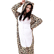Kigurumi Pyžama Matná černá Leotard/Kostýmový overal Festival/Svátek Animal Sleepwear Halloween Hnědá Patchwork Kigurumi Pro Unisex