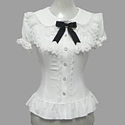 Blusa / Falda Amaloli Princesa Cosplay Vestido  de Lolita Blanco Encaje Puff/Globo Manga Corta Lolita Blusa por