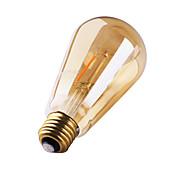 1 PC gmy e27 3w 2 cob la vendimia blanca caliente de st64 edison de 180 lm llevó los bulbos ac 220-240 v 2200k del filamento