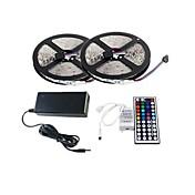 zdm ™ 2 × 5m 150x5050 SMD RGB LED-Streifen und 44key Fernbedienung und 6a uns Stromversorgung (AC110-240V)
