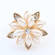Anillos De mujeres Perla Artificial Perla Artificial / Aleación Perla Artificial / Aleación Ajustable Oro / BlancoEl tamaño del anillo es