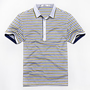 siete Brand® Hombre Cuello Camisero Manga Corta Camiseta Gris Claro-E99T540233