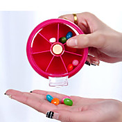旅行用ピルケース 携帯式 のために 旅行用緊急グッズ プラスチック-オレンジ ピーチ ローズレッド グリーン ブルー