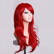 Mujer Pelucas sintéticas Sin Tapa Medio Ondulado Natural Rojo Peluca de cosplay Peluca de Halloween Peluca de carnaval Las pelucas del